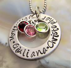 personalized family necklace personalized mothers necklace necklace mothers jewelry