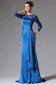 robe de mariã e bleue robe de soirée mère de mariée bleue manches longues en dentelle