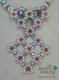 crystal lace necklace patterns images The beading butterfly beaded art and jewelry by kassie gif