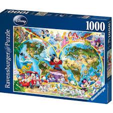 World Map Puzzles by Ravensburger Disney World Map 1000 Piece Puzzle 13 00 Hamleys