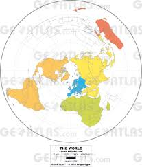 World Map 1500 by Geoatlas World Maps Polar Projection Map City Illustrator