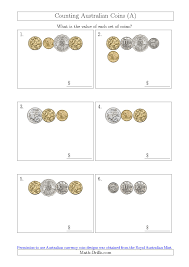 counting small collections of australian coins a