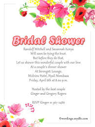 bridal shower invite wording wedding shower invite wording zoolook me