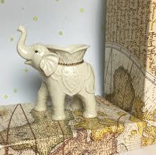 Porcelain Elephant Lenox Porcelain Off White Elephant Tea Light Candle Holder