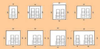 dimensions of a 2 car garage best 2 car garage door size within awesome 2 car ga 15077