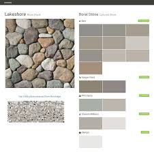 lakeshore river rock cultured stone boral stone behr valspar