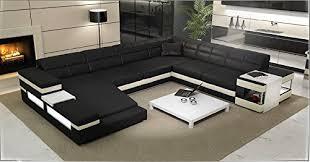 Black And White Sectional Sofa 2950 Modern Sectional Sofa Black White Italian Leather