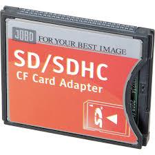 Memory Card Nikon D70 jobo sd sdhc to compact flash type ii adapter se9108 b h photo