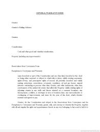 sample printable general warranty deed form printable real