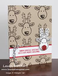 rudolph the reindeer cookie cutter christmas stampin u0027 up stamp