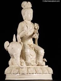 Elephant Statue Porcelain Kuan Yin On Elephant Statue 6rk1