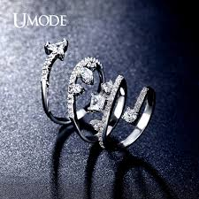 aliexpress buy new arrival white gold color aaa aliexpress buy umode spiral design aaa mutishapes simulated