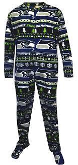 webundies seattle seahawks sweater guys onesie footie pajama