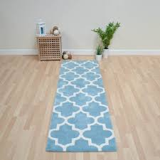Blue Rug Runners For Hallways Arabesque Hallway Runners In Light Teal Free Uk Delivery The