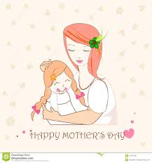 and hug mothers day card royalty free stock images