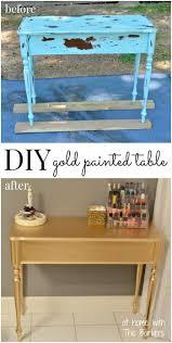 Metallic Gold Fabric Spray Paint - diy gold painted table metallic spray paint spray painting and