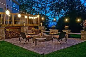 Stringing Lights In Backyard by Backyard Patio String Lights Remarkable Ideas For Patio String