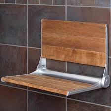 teak shower seat with backrest bathroom