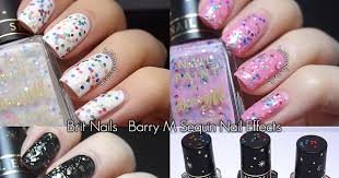 barry m sequin nail effects swatches and review brit nails