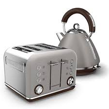 Toaster Kettle Set Pebble Special Edition Accents Pyramid Kettle And 4 Slice Toaster Set