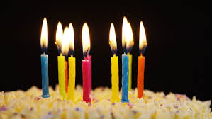 happy birthday cake with burning candles stock footage video