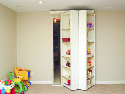 brilliant screet and hidden room behind wood toy storage cabinet