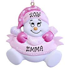 baby ornament personalized
