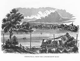 springfield ma connecticut river print of a vintage 1800s