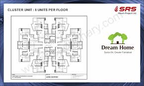cluster home floor plans 2bhk flats in srs dream home floor plan in sector 84 faridabad