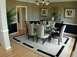 Round Rug Dining Room by Dining Table Area Rugs Under Dining Table No Area Rug Under
