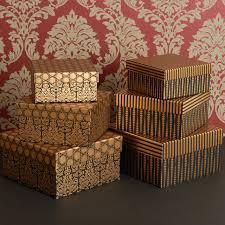 metallic gift box aliexpress buy vintage paper box packaging gold metallic