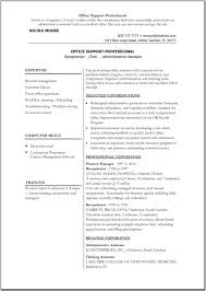 Admin Resume Template Office Resume Templates Madinbelgrade