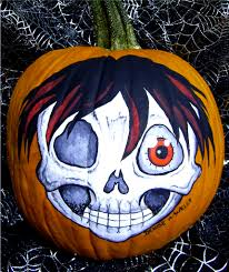 zombie pumpkin carving ideas pumpkin painting anime zombie by denise a wells just fini u2026 flickr