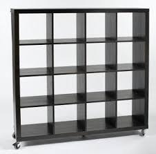 Backless Bookshelf Eurostyle Sage Bookcase On Wheels With 12 Enclosed Shelves Home