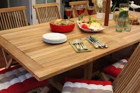 classic 11 piece teak rectangle extending outdoor dining setting