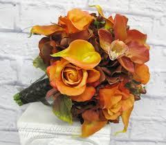 Silk Bridal Bouquet Fall Wedding Bouquet Bride In Bloom
