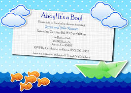 ocean theme baby shower invitations theruntime com