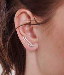 climber earrings sterling silver pisces ear climber earrings marycrafts