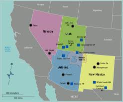 Major Cities Of Usa Map by Usa Southwest Map U2022 Mapsof Net