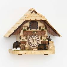 chalet quartz table cuckoo clock black forest house with music by