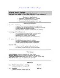 Resumes Samples Free by Functional Resume Sample Hotel Management Traineepng Functional