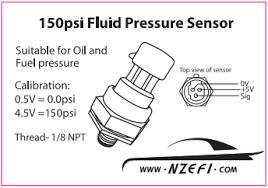 honeywell 150 psi oil pressure sensor nzefi performance tuning