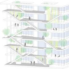 gallery of nl a reveals plans for open concept green office nl a reveals plans for open concept green office building in france courtesy