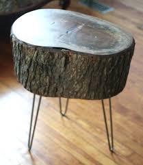 tree stump table base natural wood slab table wood slice coffee table live edge coffee