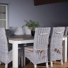 Wooden Dining Set Reclaimed Wood Table Modish Living - Wooden dining table with wicker chairs