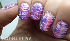 striped fan brush nail art sunburn