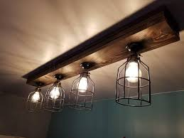 Rustic Ceiling Light Fixture Rustic Farmhouse Decor Ceiling Light Cage Light Barn