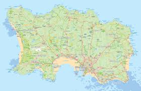 Germany Physical Map by Maps Of Jersey Detailed Map Of Jersey In English Road Map Of