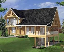 daylight basement log home plans with daylight basement home plan