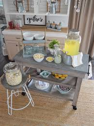 modern farmouse farmhouse kitchen island cart